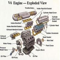 V6engine exploded view400